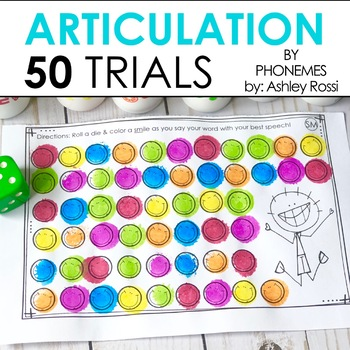 50 Articulation Trials For Speech Therapy - BUNDLE