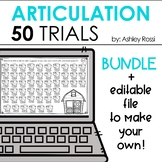 Articulation & Apraxia Trials For Speech Therapy - BUNDLE