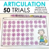 50 Articulation Trials In Speech Therapy - Holidays Seasons and Events