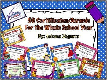 50 Awards & Certificates for The Whole Year
