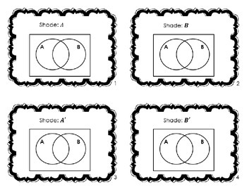 50 Basic Venn Diagrams  {Task Cards}
