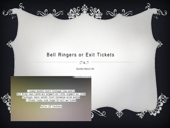 50 Bell Ringers or Exit Tickets