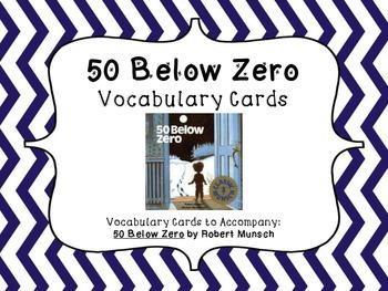 50 Below Zero Vocabulary / Word Wall Cards