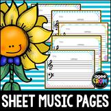 Blank Sheet Music (10) Music Center Activities - Rainbow, Composer, Classical