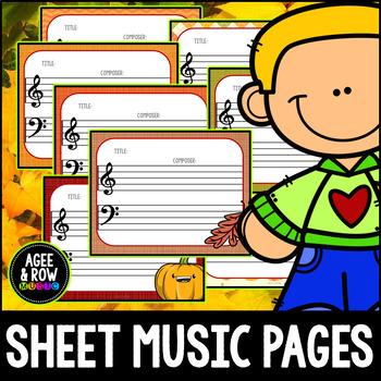 Blank Sheet Music (50) Thanksgiving Activities - Autumn, November