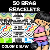 50 Brag Bracelets (Color and Black and White)
