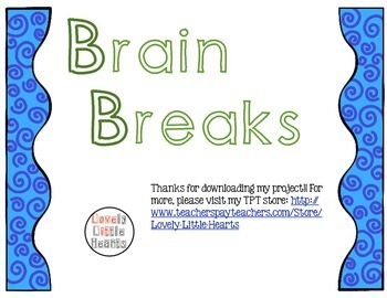 50 Brain Break Cards (Activities, Exercises, and Yoga)