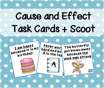 Cause and Effect Scoot Game