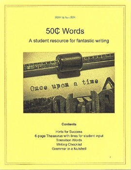 50 Cent Words: a student resource for fantastic writing