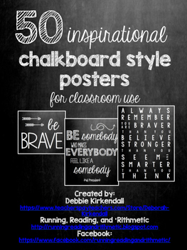 50 Chalkboard Quotes Posters (includes white background ink-saver version too!)