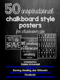 50 Chalkboard Quotes Posters (includes white background in