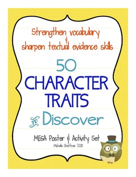 50 Character Traits to Discover: Vocabulary and Textual Evidence