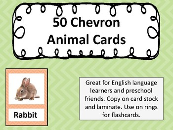 50 Chevron Flashcards Realistic Pictures