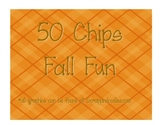 50 Chips Fall Fun Dice Game