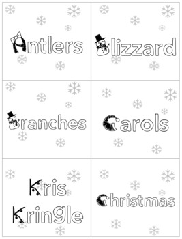 Christmas R flashcards