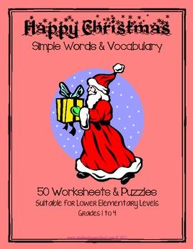 50 Christmas Worksheets Grades 1-3