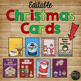 Thank You Notes, 50 Christmas and Winter Cards {Editable}