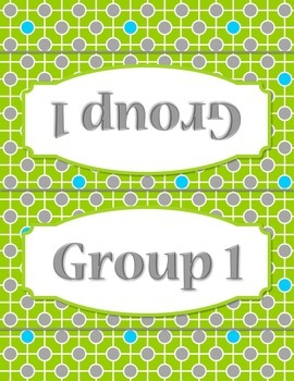 50 Circles and Lines Group Station Table Topper and Labels