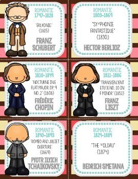 NEW! 50 Classical Composer Flashcards, Ice Cream, Valentine's Day, Chocolate