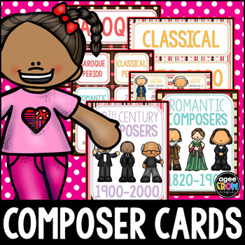 Composer Flashcards (50) Classical, Ice Cream, Valentine's Day, Chocolate