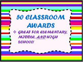 50 Classroom Awards for Elementary-High School