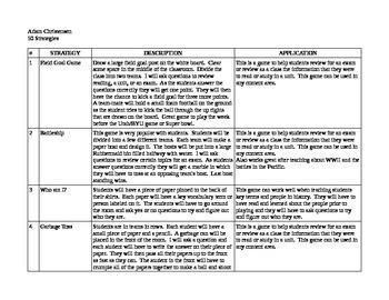 50 Classroom Strategies for Social Studies