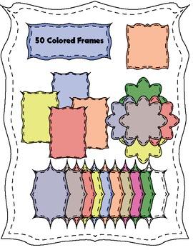 Free 50 Colored Frames Bundle