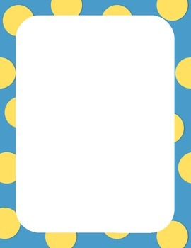 50 Colorful Borders + Frames Clipart - Polka Dot Pattern Borders