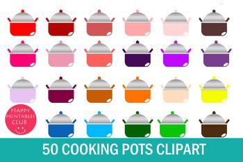 50 Cooking Pots Clipart-Pots Clipart-Kitchen Clipart