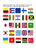 50 Countries and Flags Worksheet