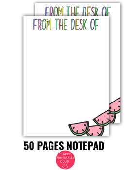 picture regarding Printable Notepad known as 50 Adorable Notepad Internet pages - Notepads-Notepad Sheets- Printable Notepad