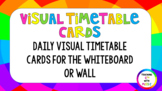 50+ Daily Visual Timetable Cards (Rainbow)