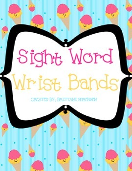 50 Different Sight Words Wrist Bands - Help Students Pract