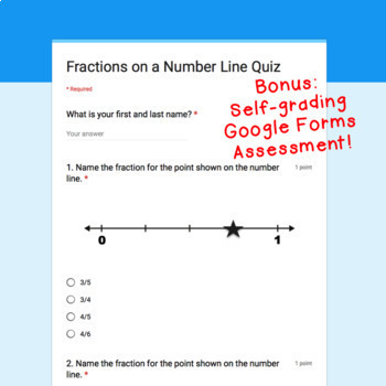 Digital Task Cards for Google Classroom™: Fractions on a Number Line