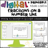 Digital Task Cards for Google Classroom™: Fractions on a Number Line