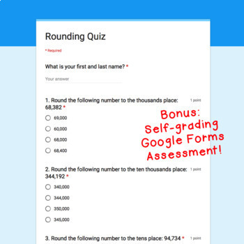Digital Task Cards for Google Classroom™: Rounding
