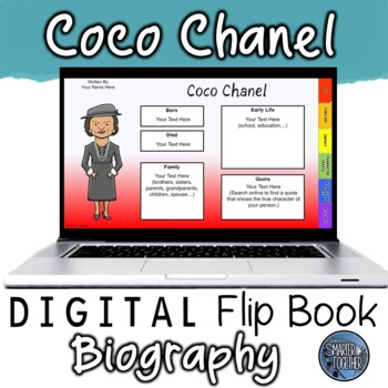 Coco Chanel Digital Biography Template