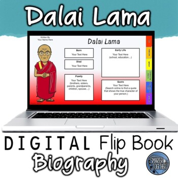Dalai Lama Digital Biography Template