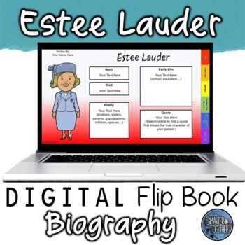 Estee Lauder Digital Biography Template