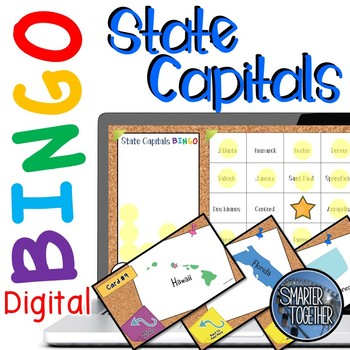 State Capitals Digital Bingo