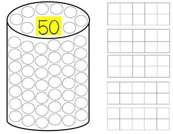 50 Dot Can 5 Ten Frames