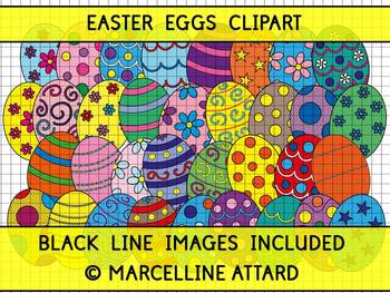 EASTER CLIPART (EASTER EGGS CLIPART) SPRING CLIPART
