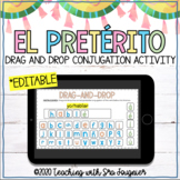 Spanish Preterite Tense AR Verbs Digital Activity - EDITABLE - Distance Learning