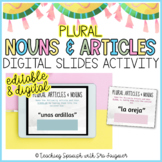 Spanish Plural Nouns and Articles Activity - Distance Learning