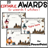EDITABLE award certificates for Harry Potter fans - ANY SUBJECTS