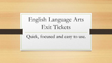 50 ELA Exit Slips Writing Prompts for Middle and High School