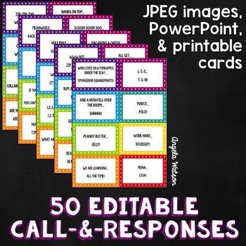 50 Editable Call and Response Ideas