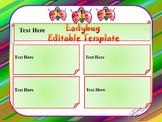 Ladybug - Editable Template
