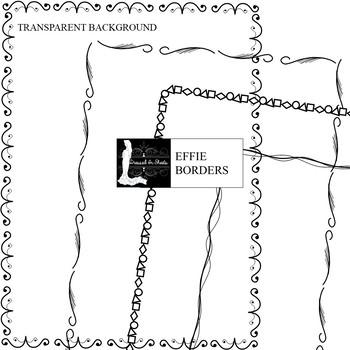 50+ Effie Borders Transparent & White