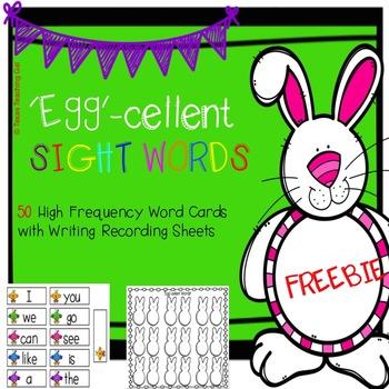 50 Egg-Cellent Sight Words *FREEBIE*
